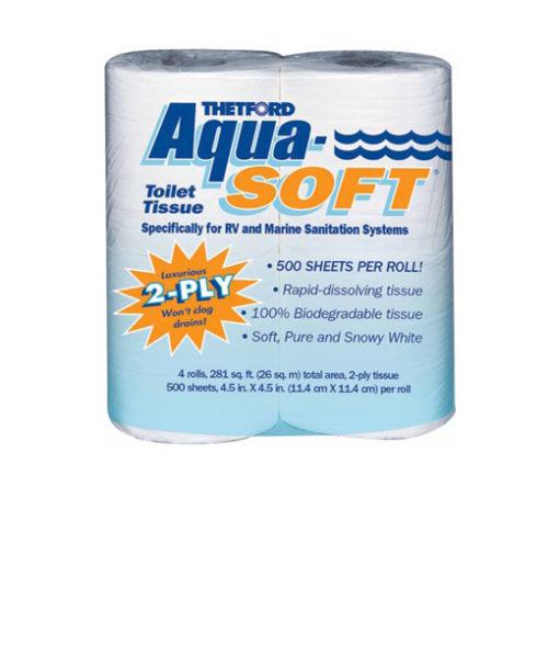 Image Aqua-Soft Toilet Paper - Pack of 4