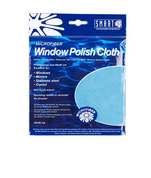 Image Window Polishing Cloth - Microfibre Blue - Pack of 10